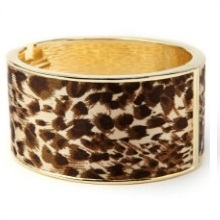 Animal Print Leopard Fabric-Wrap Bracelet